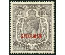SG321s. 1912 100r Grey-black. 'SPECIMEN'. Superb fresh well cent