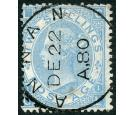 SG120b. 1867 2/- Milky blue. Brilliant fine used at 'ANNAN'...