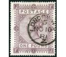 SG129. 1878 £1 Brown-lilac. Superb fine used with remarkable...
