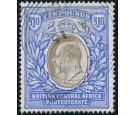 SG67. 1903 £10 Grey and blue. Brilliant fine used...