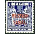 SG214. 1946 £5 Indigo-blue. Brilliant fresh U/M mint...