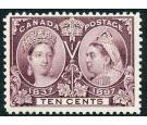 SG131. 1897 10c Purple. Brilliant fresh U/M mint...