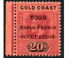 SG H58. 1916 20/- Purple and black/red. Brilliant fresh mint mar