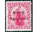 SG12. 1902 1d Carmine. 'Mixed perforations'. Superb fresh mint..