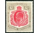 SG79. 1908 4/- Carmine and black. Superb fresh mint...