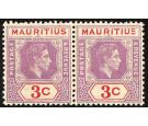SG253a. 1938 3c Reddish purple and scarlet. Sliced 'S' at right.