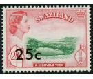 SG74b. 1961 25c on 2/6 Emerald and carmine-red. Brilliant U/M mi