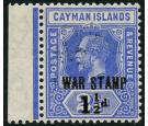 SG55. 1917 1 1/2d on 2 1/2d Deep blue. Choice brilliant fresh we
