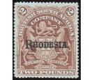 SG113d. 1912 £2 Rosy brown (bluish paper). Choice brilliant fres