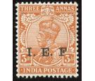 "I.E.F. SG E7a. 1914 3a Orange. No stop after ""F"". Superb fresh m"