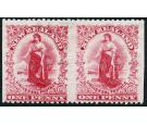 SG352ba. 1906 1d Deep rose-carmine. 'Imperforate Between, Horizo
