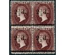 SG54. 1890 2 1/2d on 4d Chocolate. Very fime mint block of 4...