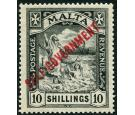 SG121. 1922 10/- Black. Brilliant fresh well centred mint...