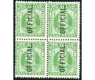 SG O73. 1910 1/2d Yellow-green. Brilliant fresh mint block...
