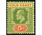 SG68. 1913 5/- Green and red/yellow. Superb fresh mint...