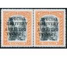 SG S1b. 1916 5d Black and orange. 'SPECIAL DELIVERY'. 'Overprint
