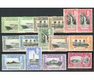 SG113-124. 1936 Set of 12 plus perforation varieties (15 stamps)