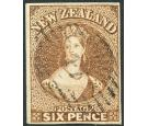 SG13. 1857 6d Brown. Exceptionally fine used...