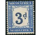 SG D28a. 1942 3d Indigo and milky blue. 'Watermark Inverted'. U/