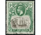 SG98c. 1922 1d Grey and green. 'Cleft Rock'. Superb fine used...