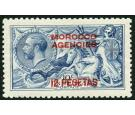 SG141. 1914 12p on 10/- Blue. Superb fresh perfectly centred min