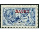 SG23. 1916 10/- Pale blue. Brilliant fresh U/M mint...