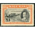 SG45. 1936. £1 Black and orange. Brilliant fresh mint...