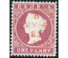 SG12A. 1880 1d Maroon. Brilliant fine used with beautiful colour