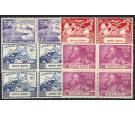 SG173-176. 1949 Set of 4. Superb fresh U/M mint blocks of 4...