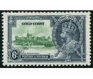 SG115a. 1935 6d Green and indigo. 'Extra Flagstaff'. Superb fres