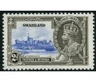 SG22b. 1935 2d Ultramarine and grey-black. 'Short extra flagstaf