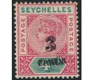 SG15b. 1893 3c on 4c 'Surcharge Double'. Very fine mint...