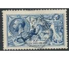 SG411. 1915 10/- Deep Blue. Superb fine used...