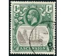 SG11a. 1924 1d Grey-black and deep blue-green. 'Broken Mainmast'
