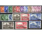 SG1-15a. 1957 Complete set of 18. Superb fine used...