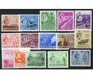 SG372-386. 1954 Set of 15. Brilliant fresh U/M mint...