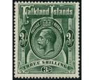 SG80. 1923 3/- Slate-green. Superb fresh U/M mint...