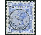 SG183. 1884 10/- Ultramarine. Superb well centred used...
