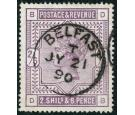 SG179. 1884 2/6 Deep lilac. Superb used with a 'BELFAST' c.d.s..