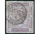 SG179a. 1884 2/6 Deep lilac on blued paper. Superb well centred.