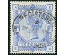 SG183. 1884 10/- Ultramarine. Very fine used...
