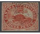 SG7. 1852 3d Scarlet-vermilion. A lovely used four large...