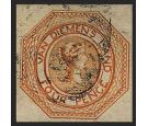 SG10. 1855 4d Orange. Very fine used with rich...