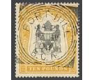 SG52. 1897 £10 Black and yellow. Brilliant fine well centred us