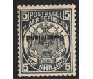 SG8a. 1889 5/- Slate-blue. Overprint Inverted. A brilliant fresh