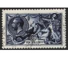SG402. 1913 10/- Indigo-blue. Brilliant used with...