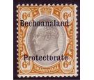 SG F1. 1910 6d Black and brown-orange. Extremely fine...