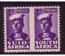 SG100b. 1943 2d Violet 'Roulette Omitted'. Post Office fresh mi