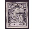 SG96. 1919 10/- Black. A 'key' high value adhesive...