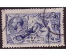 SG411var. 1915 10/- Deep blue. Very fine used....